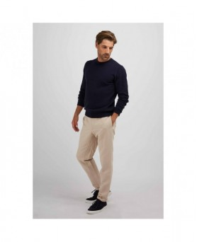 Pull col rond cachemire homme Bleu marine