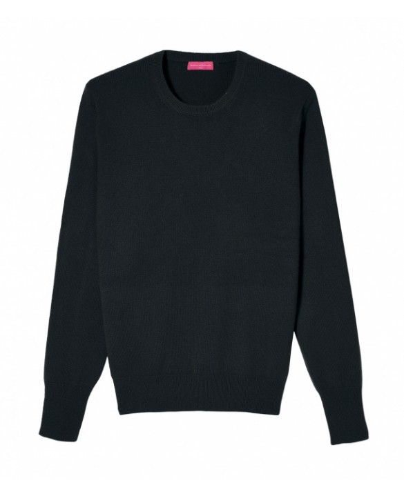 Cashmere round neck sweater Black men