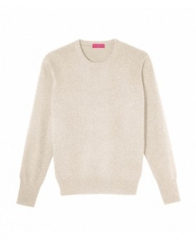 Pull col rond cachemire Beige Homme