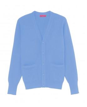 Cashmere V-neck cardigan Ice blue men