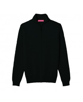 Cashmere zip sweater Black men