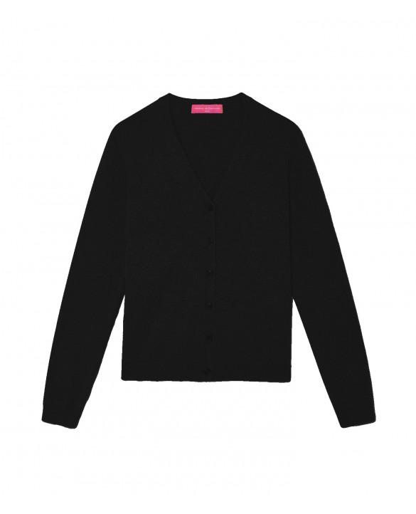 07be2cca16e Cashmere cardigan V-neck Black