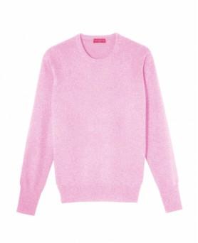 Cashmere round neck sweater Vivid pink men