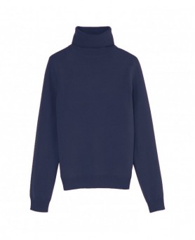 Cashmere turtleneck sweater Navy blue