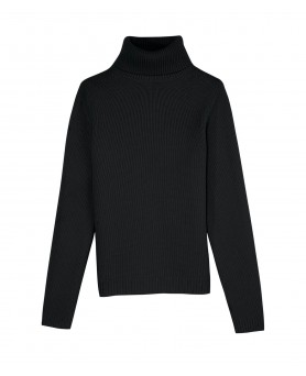 Cashmere turtleneck sweaters Black