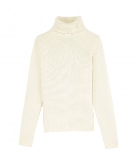 Cashmere turtleneck sweaters White