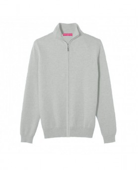 Cashmere zip sweater Light grey men