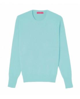 Cashmere round neck sweater blue lagoon men