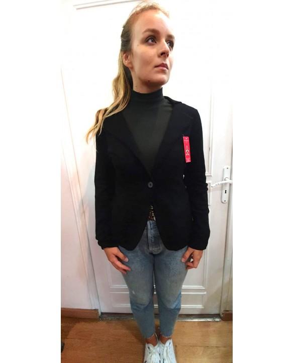 Veste blazer en cachemire noir