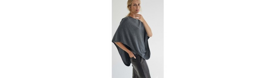 Hermine de Pashmina collection Poncho 100% cachemire