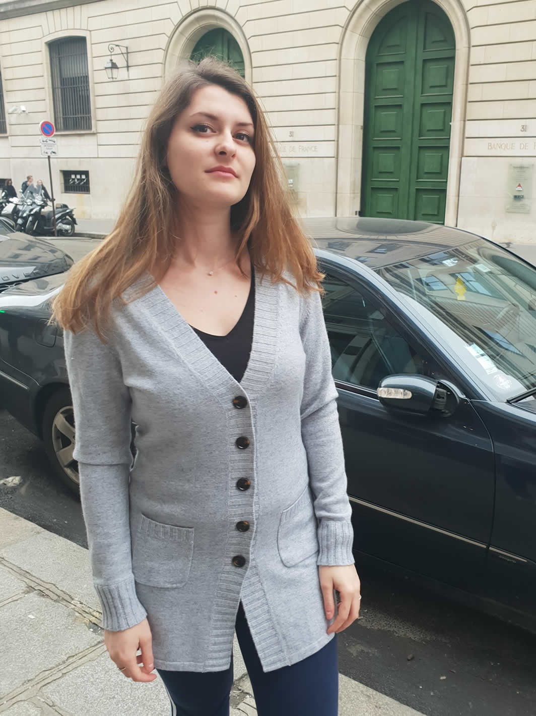 Cashmere long cardigan with pockets side