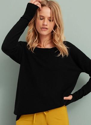 Cashmere oversized boat-neck Sweater