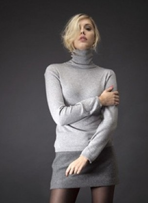 Cashmere turtleneck 2-ply sweaters