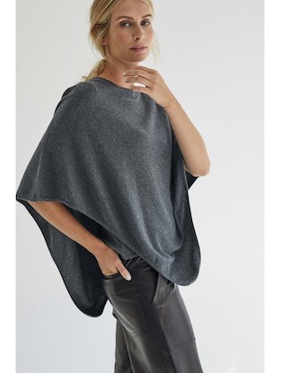 Poncho in 100% cachemire