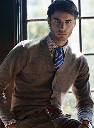 Cashmere V-neck cardigan Men